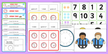 Time Games KS2 - Time Games KS2 Resource Pack - time games ks2, time games, ks2, maths games, time activities