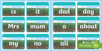 100 High Frequency Words Ground Grass and Sky Handwriting Flashcards - 100 High Frequency Words Ground Grass and Sky Handwriting Flashcards - Letters and Sounds, DfES,high