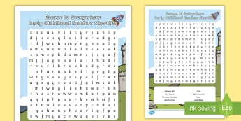 Australian Book Week- Escape to Everywhere Early Childhood Shortlist Word Search - Australian Book Week- Escape to Everywhere Early Childhood Shortlist Word Search, early childhood, w