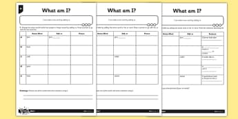 What am I Differentiated Activity Sheet Pack - GPS, suffix, er, verb, noun, grammar, spelling, worksheet