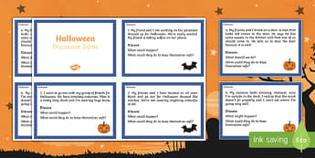 Halloween Discussion Cards