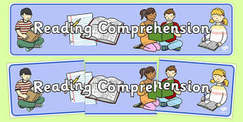 Reading Comprehension Display Banner - reading comprehension, display banner, display, banner