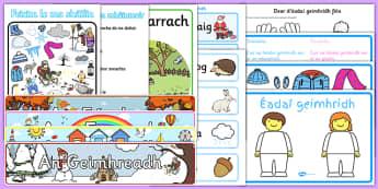 Irish Gaeilge Winter Geimhreadh Resource Pack-Irish