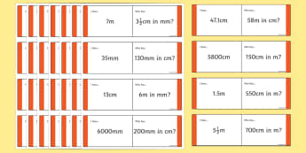 Length Conversion Loop Cards - lengths loop cards, converting lengths, measurements, measurements loop cards, length conversion game, ks2 maths game