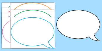Editable Speech Bubbles - speech, bubbles, editable, bubble, speech buubles,
