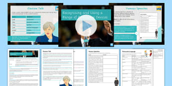 Recognising and Using a Range of Persuasive Devices Lesson Pack - Secondary - Event - General Election 08/06/2017  , KS3 English, Language, persuasion and argument, p