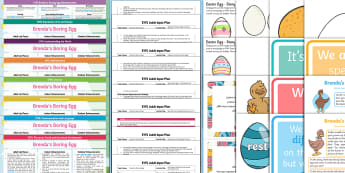 EYFS Brenda's Boring Egg Bumper Planning Pack - Originals, fiction, PSED, Early Years planning, plan, Foundation, continuous provision, enhancements