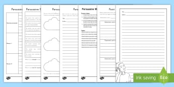 Persuasive Writing and Point of View Lesson Pack - Writing Pack, Opinion, Peer Editing, informational texts, work on writing, writer's workshop