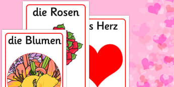 Valentine's Day Display Posters German - german, valentines, day, display, poster