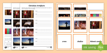 Christian Artefacts Activity Pack - Chrsitianity, cross, Bible, Special Objects, World Religion, Belief