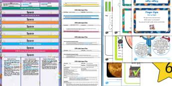 EYFS Space Themed Bumper Planning Pack - Space, adult led, continuous provision, enhancement, early years planning