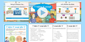 'i' Before 'e' Except After 'c' Activity Pack -  SPaG, GaPS, Spelling Rules, national curriculum Appendix 1, I Before E, exceptions to the rule, spe