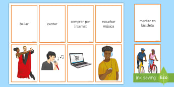 Hobbies and Free Time Activities Matching Cards Spanish  - Spanish, Vocabulary, free time, hobbies, matching, cards