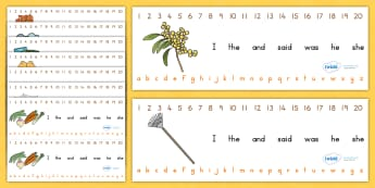 Autumn Combined Number Alphabet Strips - a-z strips, a-z, seasons