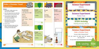 EYFS Science Experiments Resource Pack to Support Teaching on Harry and the Bucketful of Dinosaurs - Harry and the Bucketful of Dinosaurs, Ian Whybrow, dinosaur, fossil, displacement, water, filling an