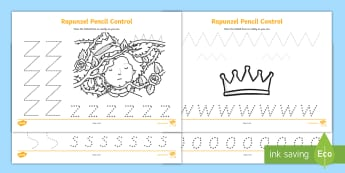 Rapunzel Pencil Control Worksheets - rapunzel, pencil, control, pencil control, worksheet, rapunzel worksheet, rapunzel pencil control, pencil worksheet