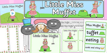 Little Miss Muffet - little miss muffet, resource pack, rhyme