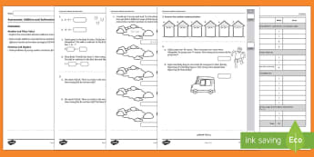 Semester 2 Year 2 Addition and Subtraction Maths Test - Assessment, test, addition, subtraction, Year 2, problems, mental strategies, written strategies, nu