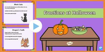 Year 3 Halloween Fractions PowerPoint
