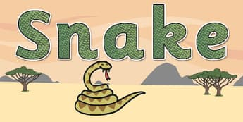 'Snake' Display Lettering - safari, safari lettering, safari display lettering, snake display words, snake display lettering, snake letters, snake word