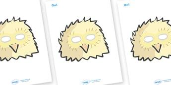 Owl Role Play Masks - owl, role play mask, role play