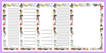 Materials Page Borders - materials, science, page border, writing template, writing aid, investigation, material properties, shiny, dull, rough, smooth, bumpy, wood, plastic, glass, stone, transparent