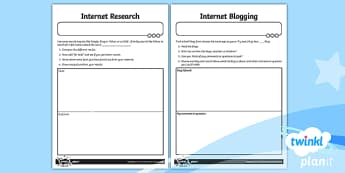 Computing: Using the Internet Year 2 Home Learning Tasks