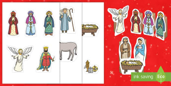 Nativity Small World Characters - Christmas, Xmas, Nativity scene, role-play, child-led, imaginative play, continuous provision, woode