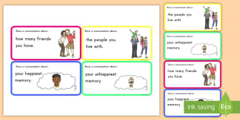 Conversation Game: Have a Conversation Cards  - conversation, cards, game, communication, English