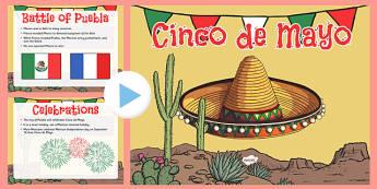 Cinco de Mayo Informational PowerPoint - usa, america, Cinco De Mayo