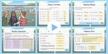 Year 6 Algebra Maths Warm-Up PowerPoint - KS2 Maths warm up powerpoints, warm up, warm-up, warmup, starter, mental starters, Y6, maths, curric