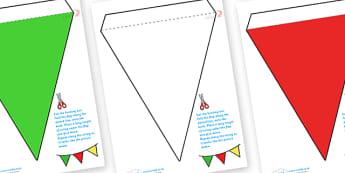 Italian Flag Bunting - italian flag, bunting, italian bunting, flag bunting, italy bunting, classroom bunting, classroom decoration, italian decoration