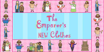 The Emperors New Clothes Display Borders - border, story books
