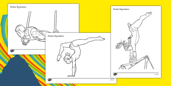The Olympics Artistic Gymnastics Colouring Sheets - olympics, artistic gymnastics, artistic, gymnastics, colouring, sheet