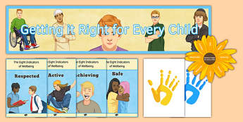 Getting it Right for Every Child Display Pack - getting it right for every child, display pack, display, pack, girfec, scotland, cfe, curriculum, excellence