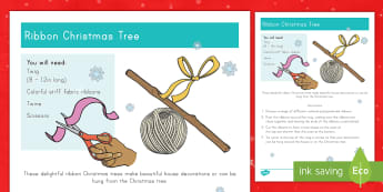 Ribbon Christmas Trees Craft Instructions - ribbon, Christmas trees, crafts, december, holidays, nature, gift, decorations,