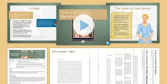 The letters: Pride and Prejudice Lesson Pack - Pride and Prejudice, Jane Austen, AQA GCSE, GCSE revision, epistolary style, letters, exam revision,