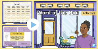 Year 5 Word of the Day Spring 1 PowerPoint - Vocabulary, Writing, Creative, Sentence, Grammar, Sats, Spelling