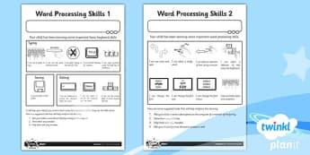 Computing: Microsoft Word Processing Skills: Year 1 Home Learning Task
