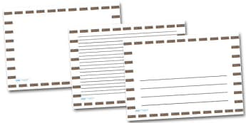 Trench Landscape Page Borders- Landscape Page Borders - Page border, border, writing template, writing aid, writing frame, a4 border, template, templates, landscape