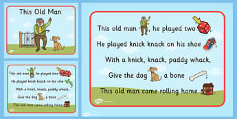 This Old Man Nursery Rhyme PowerPoint - Powerpoints, Rhymes