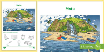 Island Word and Picture Matching Activity Sheet -  Picture Word Find,  Maori Language Week, worksheet, key word, word find