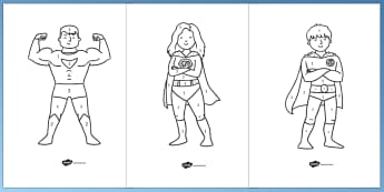 Superheroes Colour by Number - colour, number, superheroes, super