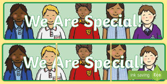 We Are Special! Display Banner - sPHE, RSE, myself, others, friends, ,Irish