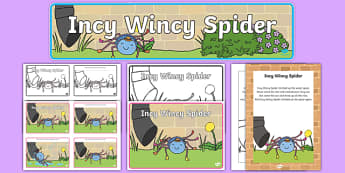 Incy Wincy Spider - incy wincy spider, resource pack, resources