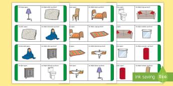 Items in the Home Loop Cards - Gaeilge  - Cártaí Lúb, Sa Bhaile, Household items,Irish