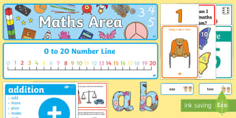 EYFS Maths Area Classroom Set Up Pack - eyfs, maths, area, set up