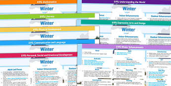 EYFS Winter Themed Lesson Plan and Enhancement Ideas - planning, winter, lesson plan ideas, EYFS, lesson plan, lesson ideas, EYFS ideas, EYFS lesson, winter lessons, winter ideas, lessons