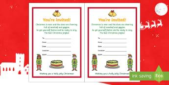 Christmas Party Invitation Activity