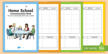 Home School Communication Book Primary English/Portuguese - Home School Communication Book Primary - home school, communication, book, primary, eal